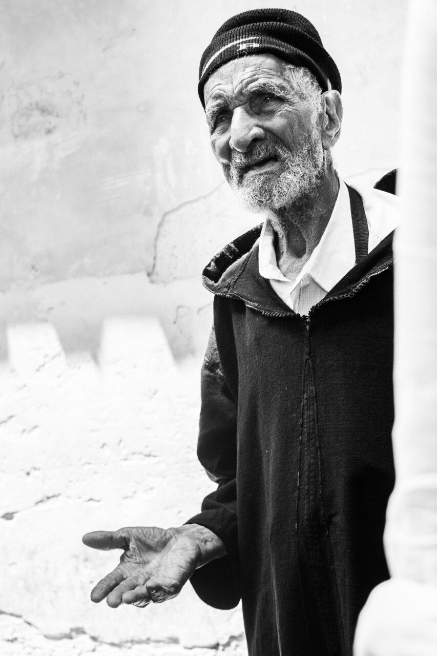 Bettler in der Medina Fez